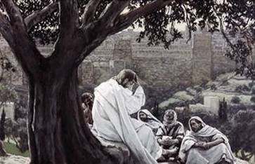 Christ Foretelling the Destruction of the Temple - James Tissot