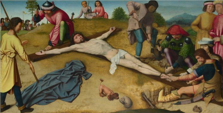 Christ Nailed to the Cross - Gerard David
