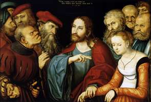 Christ and the Adulteress - Lucas Cranach