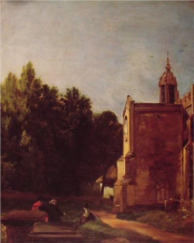 Church Porch - John Constable