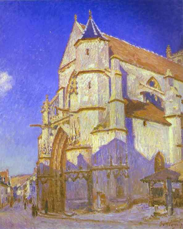 The Church at Moret - Alfred Sisley