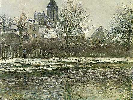 Church at Vetheuil - Claude Monet