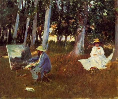 Claude Monet Painting at the Edge of a Wood - John Singer Sargent.jpg