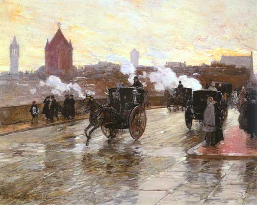 Clearing Sunset - Childe Hassam