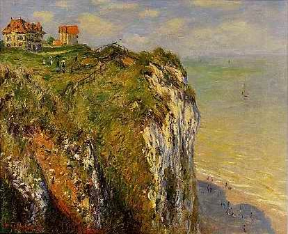Cliffs at Dieppe - Claude Monet