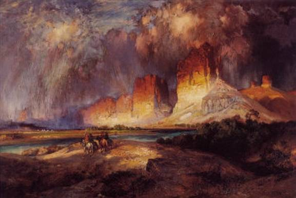Cliffs of Upper Colorado River - Thomas Moran