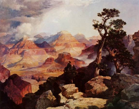 Clouds in the Canyon - Thomas Moran