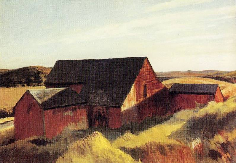 Cobb's Barns, South Truro - Edward Hopper