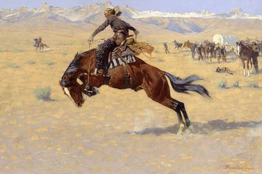 Cold Morning on the Range - Frederic Remington