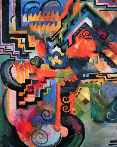 Colored Composition - August Macke