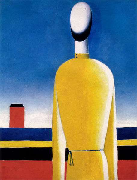 Complex Presentiment: Half Figure in a Yellow Shirt - Kazimir Malevich