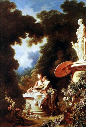 Confession of Love - Jean Honore Fragonard