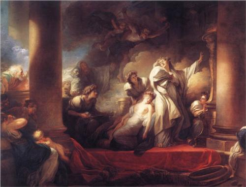 Coresus Sacrificing Himself to Save Callirhoe - Jean Honore Fragonard