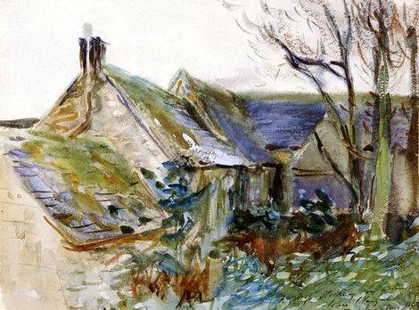 Cottage at Fairford, Gloucestershire - John Singer Sargent