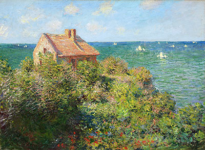 Fisherman's Cottage on the Cliffs at Varengeville - Claude Monet