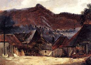 Cottages in the Jura - Theodore Rousseau