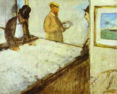 Cotton Dealers in New Orleans - Edgar Degas