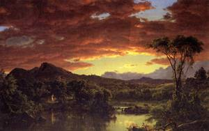 Country Home - Frederic Edwin Church