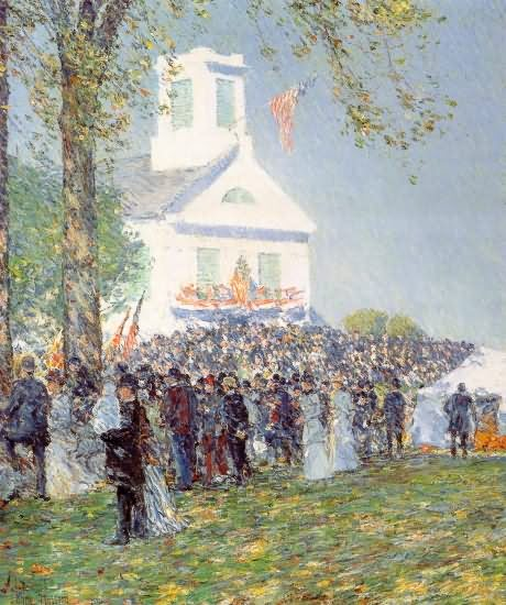 Country Fair, New England - Childe Hassam