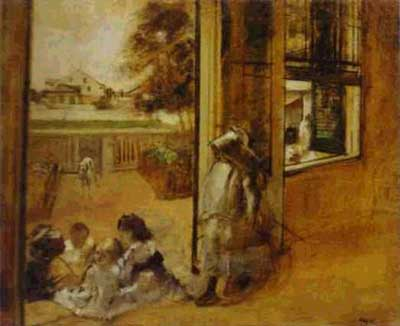 Courtyard of a House in New Orleans - Edgar Degas