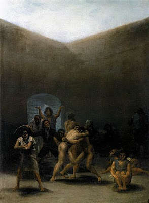 Courtyard with Lunatics - Francisco Goya