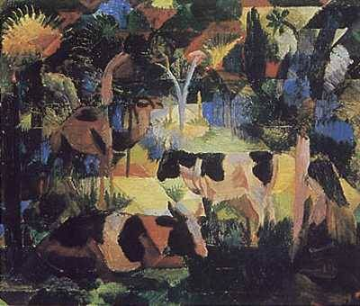 Cows and Camel - August Macke