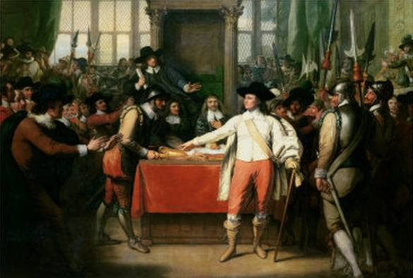 Cromwell Dissolving the Long Parliament - Benjamin West