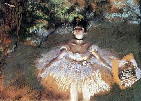 Dancer with Bouquet - Edgar Degas
