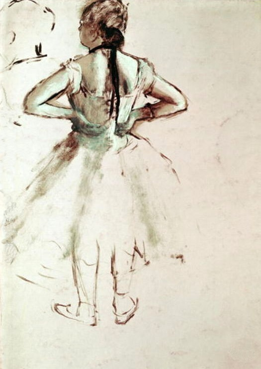 Dancer Viewed from the Back - Edgar Degas
