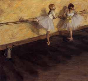 Dancers Practicing at the Barre - Edgar Degas