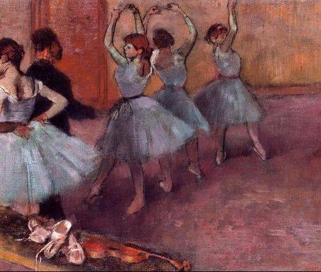 Dancers in Light Blue - Edgar Degas