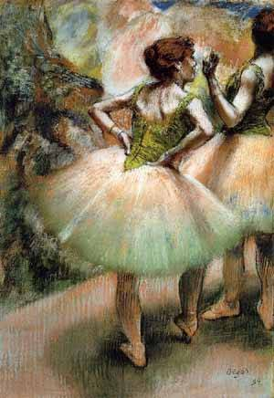 Dancers in Pink & Green - Edgar Degas