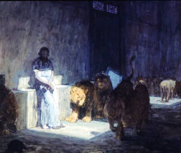 Daniel in the Lions Den - Henry Ossawa Tanner