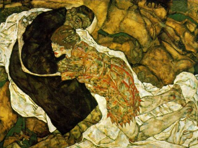 Death and the Girl - Egon Schiele