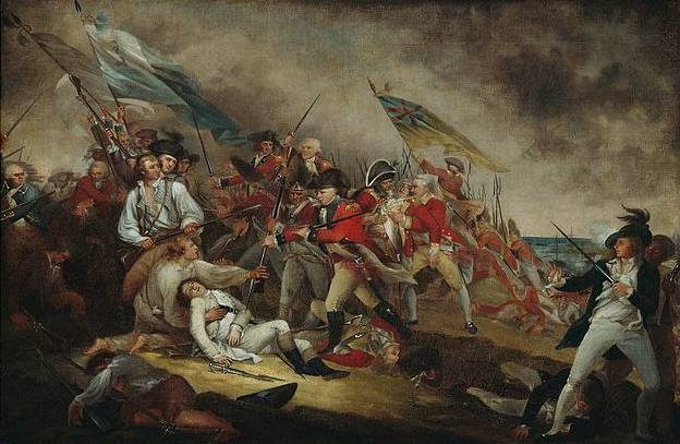 Death of General Warren at the Battle of Bunkers Hill - John Trumbull