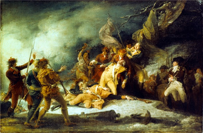 Death of Montgomery in the Attack on Quebec - John Trumbull