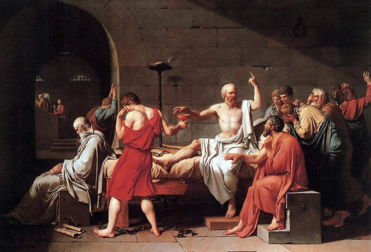 Death of Socrates - Jacques Louis David