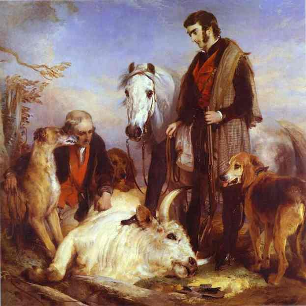 Death of the Wild Bull - Edwin Henry Landseer
