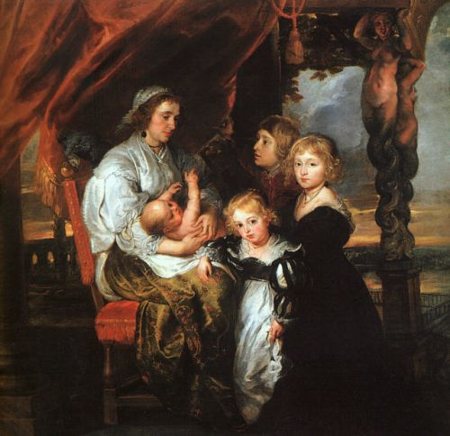 Deborah Kip and Her Children - Peter Paul Rubens
