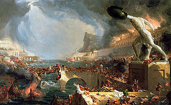 Destruction of Empire Course of Empire - Thomas Cole