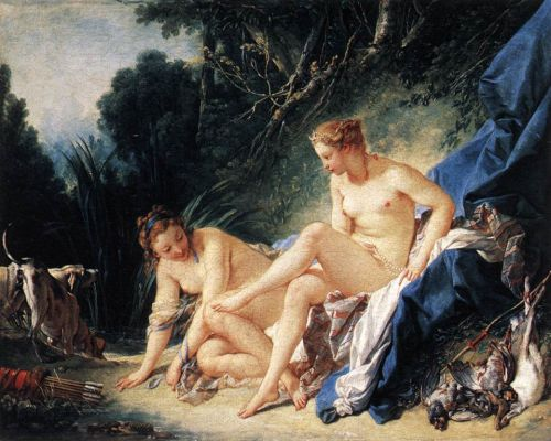 Diane Resting After Bath - Francois Boucher