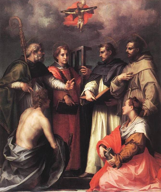 Disputation over the Trinity 1517-1518 Andrea del Sarto