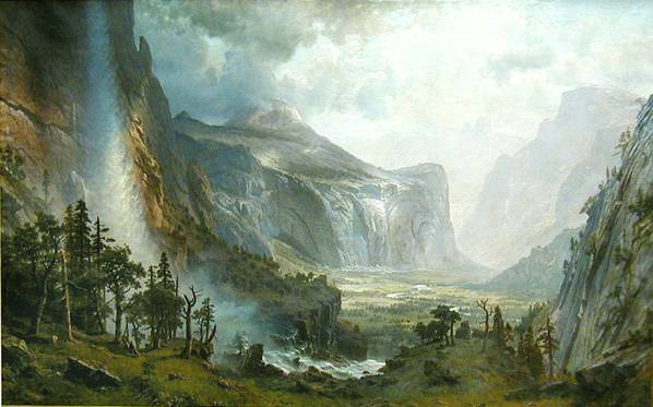 Domes of the Yosemite - Albert Bierstadt