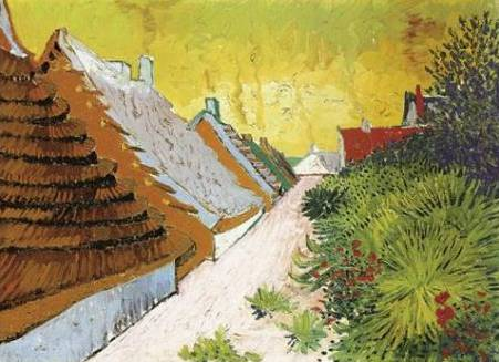 Dorfstrasse at Sainte Maries - Vincent van Gogh