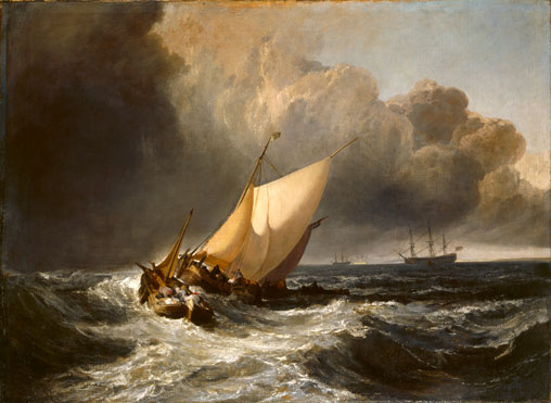 Dutch Boats in a Gale - Joseph Mallord William Turner