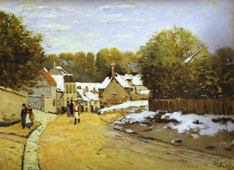 Early Snow at Louveciennes - Alfred Sisley