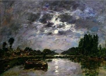 Effect of the Moon - Eugene Boudin
