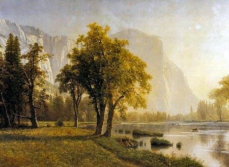 El Capitan, Yosemite Valley - Albert Bierstadt