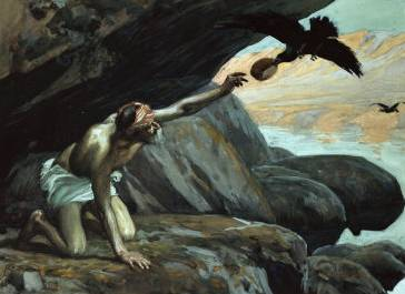 Elijah Fed by the Ravens - James Tissot