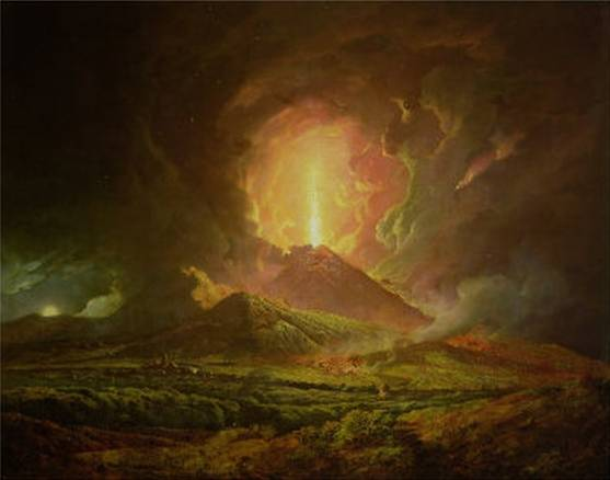 Eruption of Vesuvius Seen from Portici - Joseph Wright of Derby